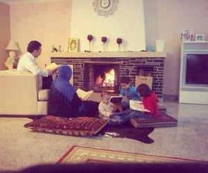 family, muslim, and quran image