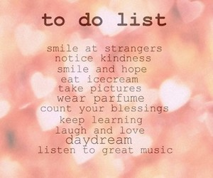 quote, smile, and to do list image