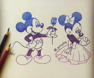 and, minnie, and disney image