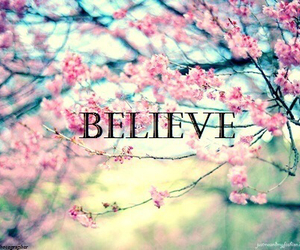 believe, give, and up image