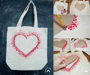 diy, bag, and heart image
