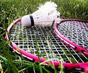 badminton, fun, and outdoor image