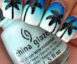 nails, blue, and summer image