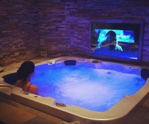luxury, tv, and jacuzzi image