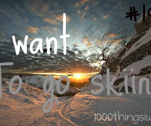 Skiing, winter, and sport image