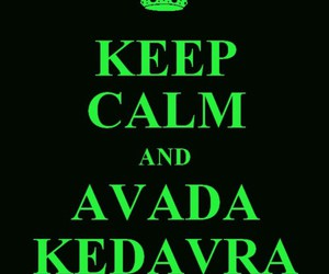 avada kedavra, harry potter, and keep calm image