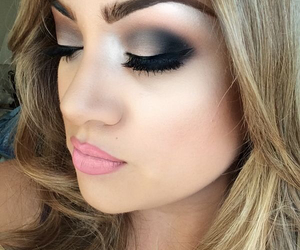 makeup, beautiful, and cosmetics image