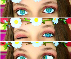 awesome, eyes, and blue image