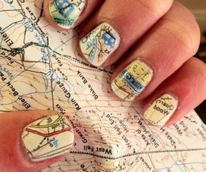 awesome, map, and nail art image