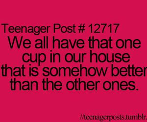 funny, teenager post, and cup image