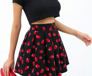 red purse, lips purse, and pretty outfit image