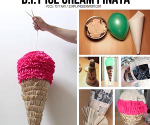 diy, pinata, and ice cream image