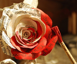 alice in wonderland, red, and craft image