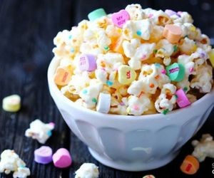 popcorn, food, and candy image