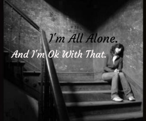 All Alone, crying, and cutting image