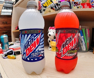 drink, mountain dew, and food image