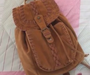 adorable, backpack, and brown image