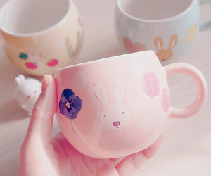 cup, pink, and cute image