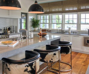 kitchen, open room, and kitchen bar image