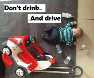 baby, funny, and drive image