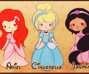 belle, mulan, and cute image