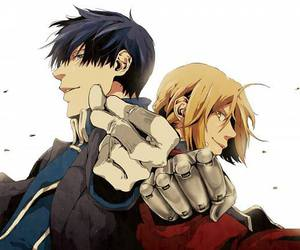 fullmetal alchemist, edward elric, and roy mustang image