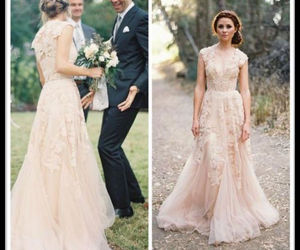 beautiful, weddingdress, and romance image