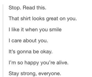 be okay, care, and help image