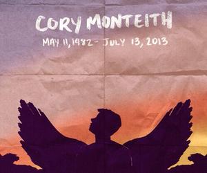 cory monteith, glee, and rip image