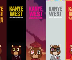 kanye west, album, and bear image