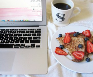 blogging, fruit, and breakfast image