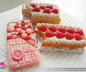 candy, strawberry, and food image