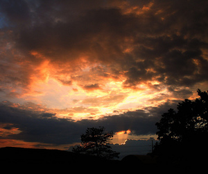 hills, sunrise, and sky image