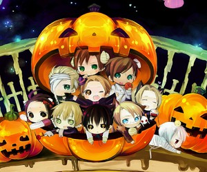 aph, chibi, and Halloween image
