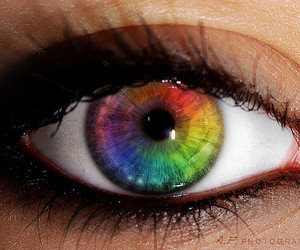 eye, eyes, and colorful image