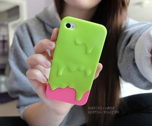 cases, green, and ipod image