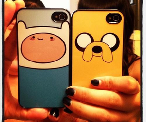 finn, adventure time, and JAKe image