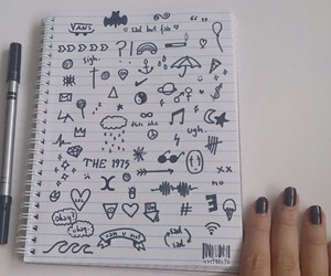 black, doodles, and drawing image