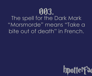 dark mark, french, and harry potter image