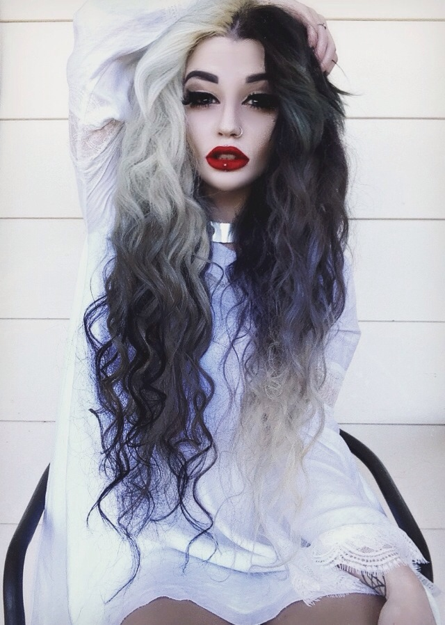 Image About Girl In Scene Style Dyed Hair By Another Girl