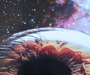 eye, universe, and stars image