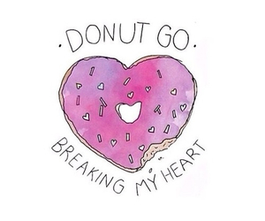 donuts, heart, and overlay image