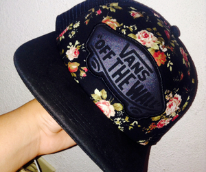 floral, hat, and pretty image