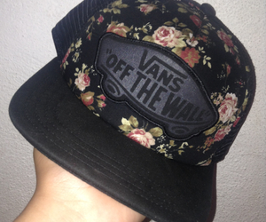 beautiful, floral, and hat image