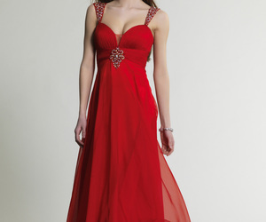 chiffon, elegant, and evening gown image
