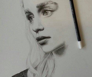 drawing, game of thrones, and art image