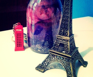 bottle, galaxy, and paris image