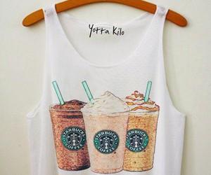 starbucks, shirt, and coffee image