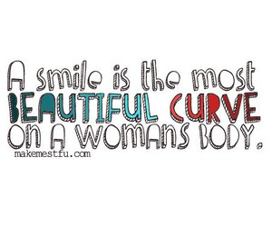 smile, quote, and woman image