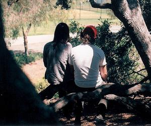 boy and girl, couple, and hang out image